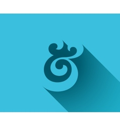 Ampersand shadow vector