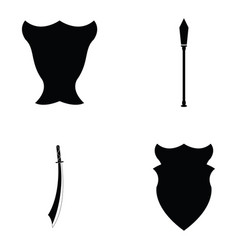 ancient weapons icon set vector image