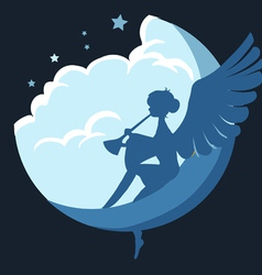 angel on the moon vector image