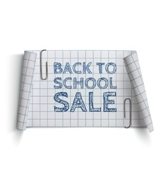 Back to School Sale curved paper banner vector