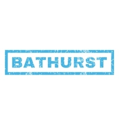 Bathurst Rubber Stamp vector image vector image