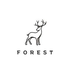 Beauty deer stag buck reindeer elk logo vector