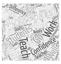 Becoming a Truly Professional Teacher Word Cloud vector