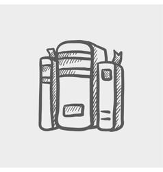 Binders sketch icon vector