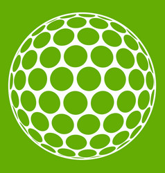 black and white golf ball icon green vector image
