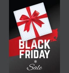 black friday sale banner black friday white gift vector image