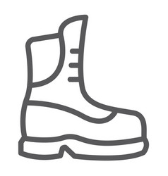 boot line icon clothing and footwear shoe sign vector image