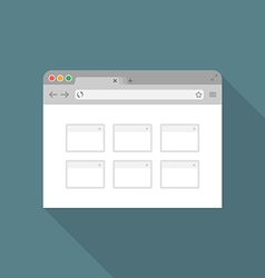 Browser flat icon2 vector
