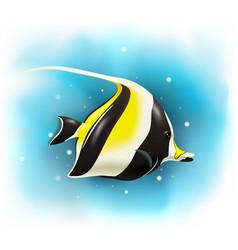 cartoon cute moorish idol fish vector image