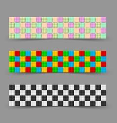 Chessboard banners vector