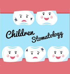 Children dentistry a concept for a banner vector