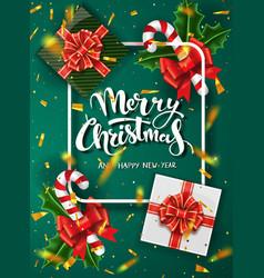 christmas green design template vector image