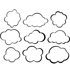 Comic cloud speech bubbles vector