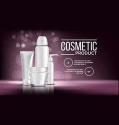 cosmetic bottle product female hygiene vector image