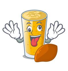 Crazy lassi mango in the character fridge vector