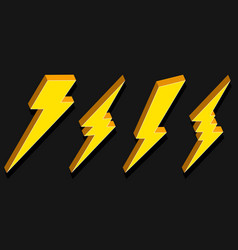 creative of thunder and bolt vector image