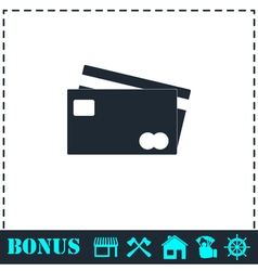 Credit Cards Payment icon flat vector image
