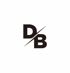 db logo letter monogram slash with modern logo vector image
