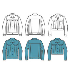 denim jacket set denim jackets clothes vector image