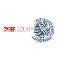 digital fingerprint and binary one and zero vector image