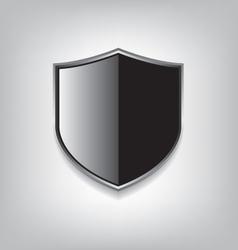 Empty black shield vector