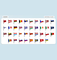 europe national flags vector image