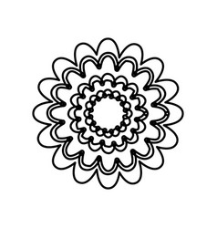 Figure flower with abstract petals icon vector