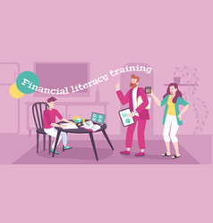 Financial parenting flat background vector