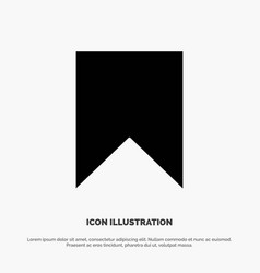 Flag instagram interface save tag solid glyph icon vector