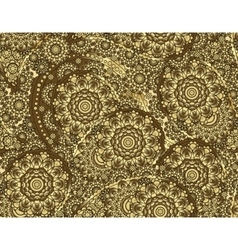 flower paisley seamless pattern element vector image