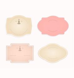 Frame oval-shaped pink beige transparent hue vector