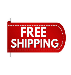 free shipping banner design vector image