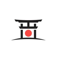 gate japan icon design vector image