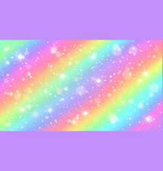glitters rainbow sky shiny rainbows pastel color vector image