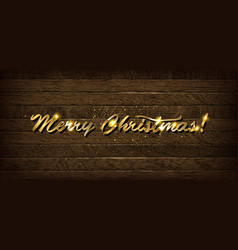golden inscription merry christmas vector image