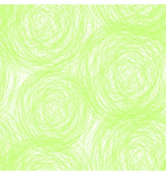 Green scribble seamless pattern vector
