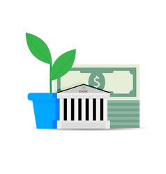 growth of financial capital in bank vector image