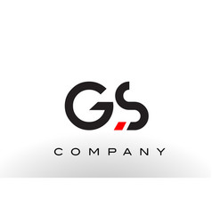 Gs logo letter design vector
