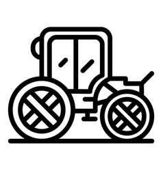 Horse brougham icon outline style vector