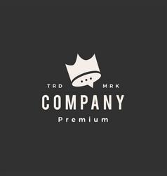 king crown talk hipster vintage logo icon vector image