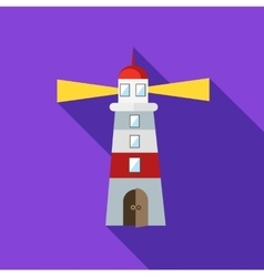 Lighthouse icon flat style vector