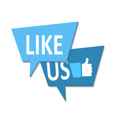 Like us icon on white stock vector