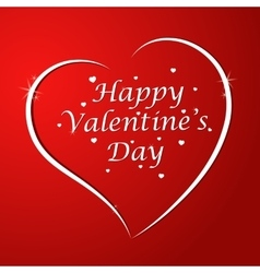 Love You Valentine Day Greeting card vector image