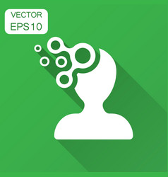 Mind people icon in flat style human frustration vector