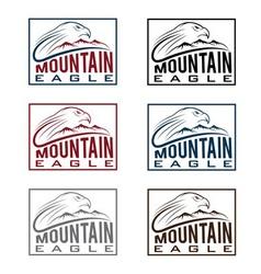 mountain eagle vintage labels set vector image