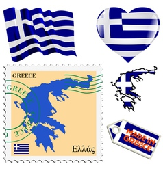 National colours of greece vector