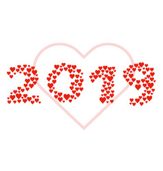 new year 2019 concept - love sign vector image
