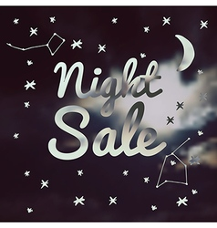 night sale on a blurred background vector image