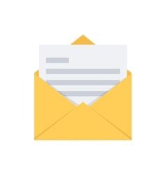 Open envelope mail symbol vector