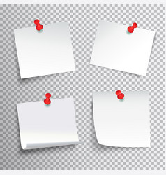 pinned paper set vector image